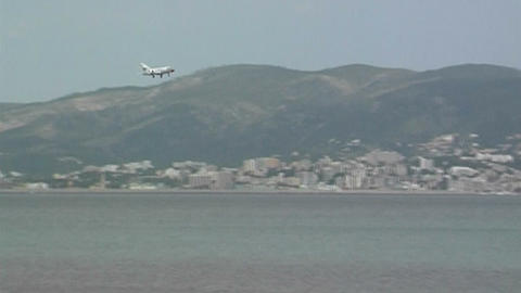 Plane landing Live Action