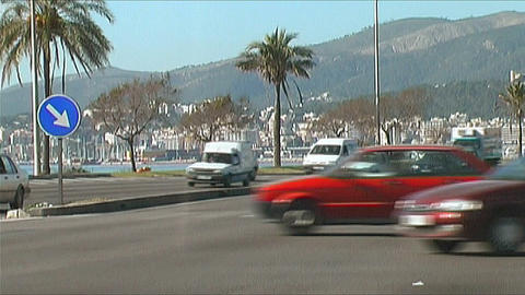 Palma de Mallorca - City traffic Stock Video Footage