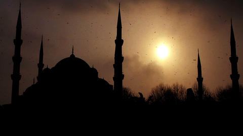 istanbul sultan ahmet mosque Stock Video Footage