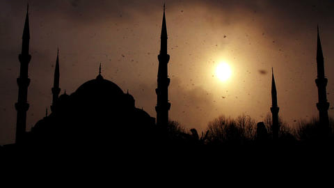 istanbul sultan ahmet mosque Stock Video Footage