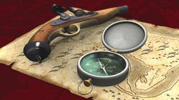 海賊地図とコンパス Animation