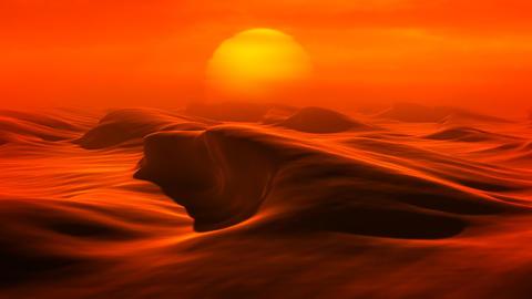 Desert Dunes (Loop) Stock Video Footage