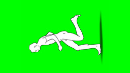 RUNNING MAN (vertical) Stock Video Footage