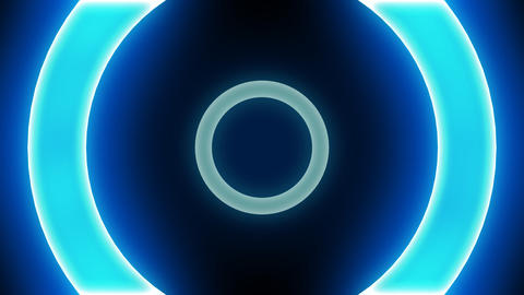Neon Light Donut A HD Animation