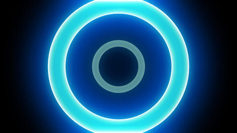 Neon Light Donut A HD Stock Video Footage