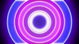 Neon Light Donut C HD Animation