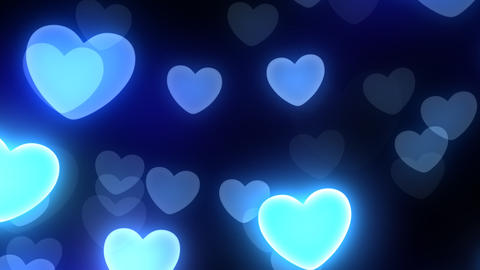Neon Light Wave Heart B HD Stock Video Footage