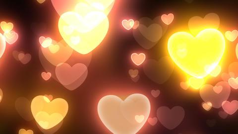 Neon Light Wave Heart C HD Stock Video Footage