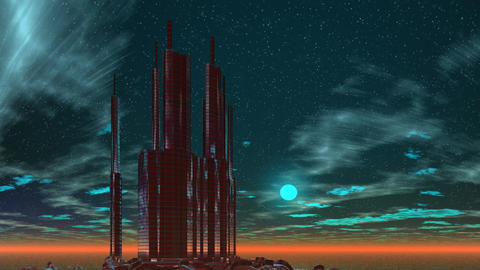 Building on a fantastic planet Stock Video Footage