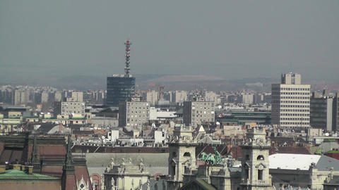 European City Rooftops View 03 Footage