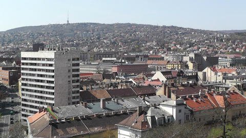 European City Rooftops View 05 Stock Video Footage
