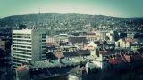 European City Rooftops View 13 stylized Footage
