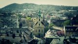 European City Rooftops View 15 stylized Footage