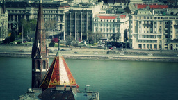 European City View 03 stylized Footage
