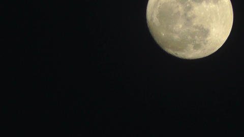 Full Moon Timelapse 04 Stock Video Footage