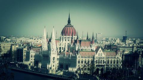 Hungarian Parliament Budapest Hungary 12 stylized Footage
