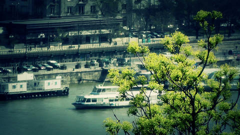 Springtime in European City stylized Stock Video Footage