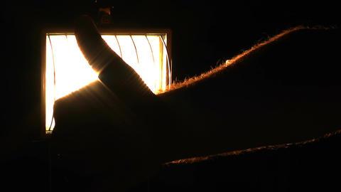 Thumbs Up against Lights 01 Footage
