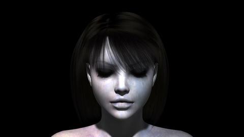 女性の顔 Stock Video Footage