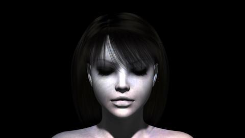 女性の顔 CG動画
