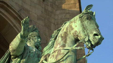 10671 emperor wilhelm monument germany close Stock Video Footage