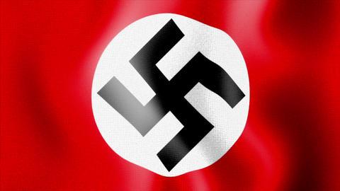 10675 waving swastika nazi flag Stock Video Footage