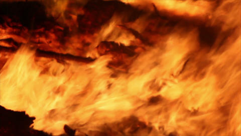 Fire Detail Clip 10 Stock Video Footage