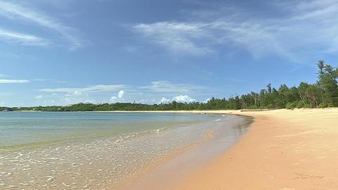 Summer beach in Iriomote island,Okinawa,Japan Stock Video Footage