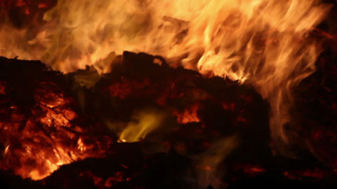 Fire Detail Clip 16 Part 1 Stock Video Footage