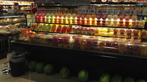 Fresh food displays in a market (6 of 6) Footage