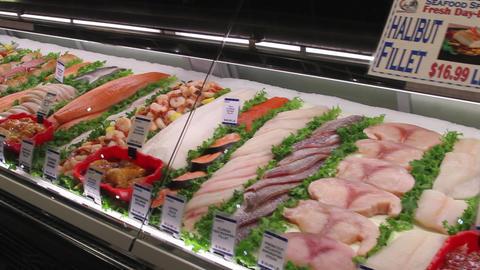 Fresh food displays in a market (1 of 6) Footage