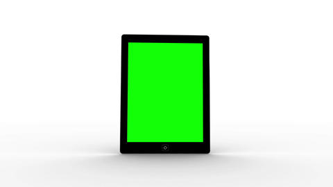 Tablet screen showing green copy space Animation