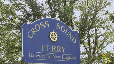 Cross Sound Ferry Sign Footage