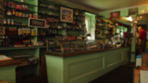 People Inside A Small Cafe (3 Of 3) stock footage