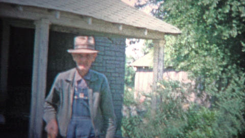 ARKANSAS, USA - 1966: Old Time Southern Poor Farmer Just Getting By stock footage