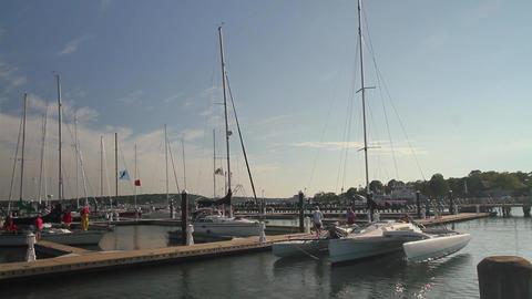 Catamaran coming ashore (2 of 2) Footage