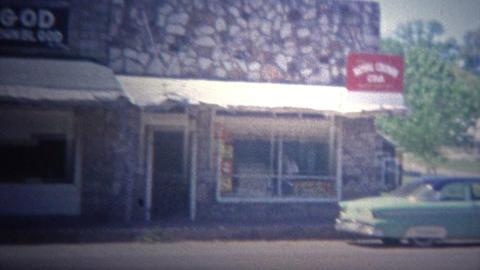 ARKANSAS, USA - 1966: Church Of God historic faith building Footage
