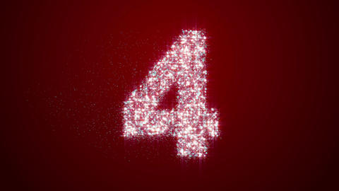 Particle Countdown Rotate Red stock footage