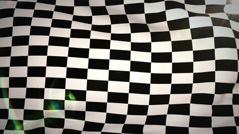 Checkered flag blowing in wind Animation