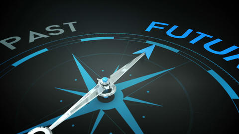 Compass pointing to future Animation