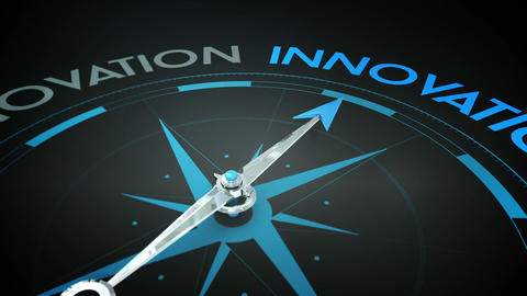 Compass pointing to innovation Animation