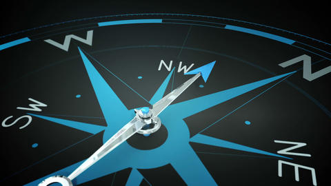 Compass pointing to the north Animation