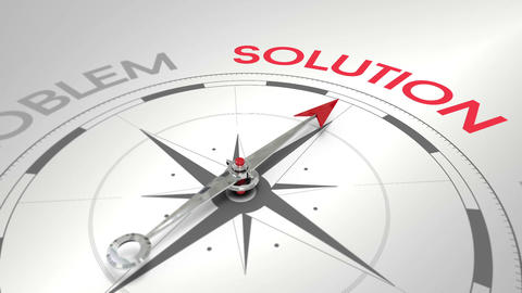 Compass pointing to solution Stock Video Footage
