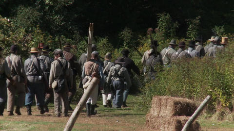 Civil War reenactment (3 of 3) Footage