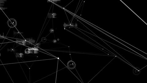Graphs and lines on black background Animation