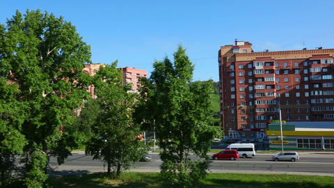 Morning in Novosibirsk Footage