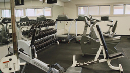 Inside A Gym Facility (3 Of 4) stock footage