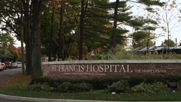 St. Francis Hospital sign Footage