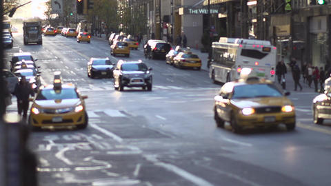 Busy New York City taxis (3 of 6) Footage
