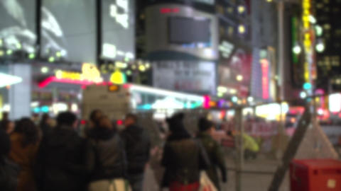 Timelapse Of A Busy Street (1 Of 2) stock footage